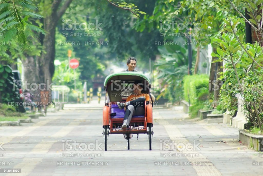 Traditional Becak stock photo
