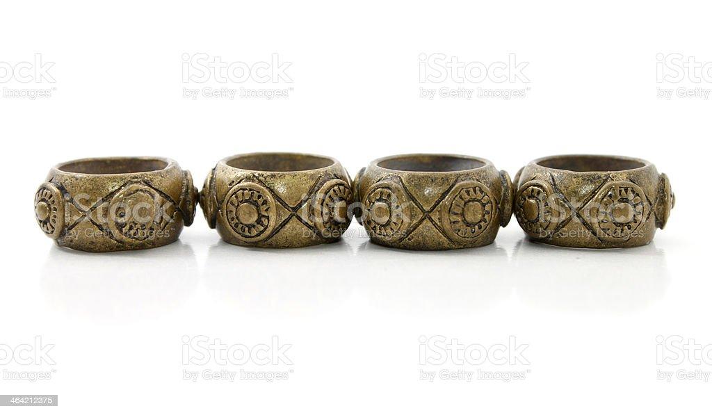 Traditional rings of Kadazan tribe in Sabah, Borneo, Malaysia stock photo