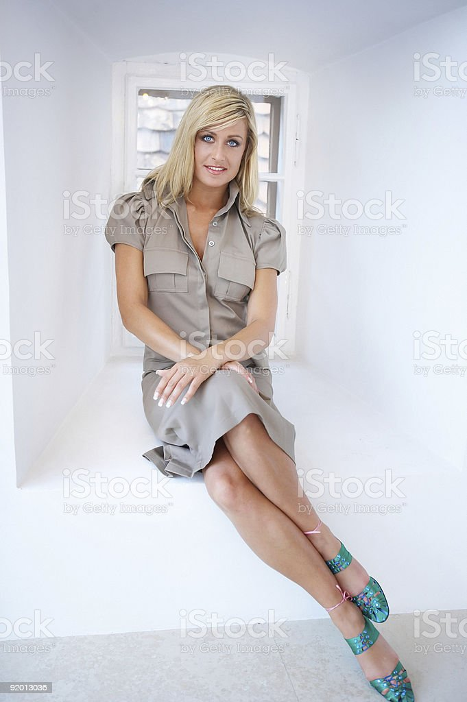 traditional role model of a woman, female issues royalty-free stock photo