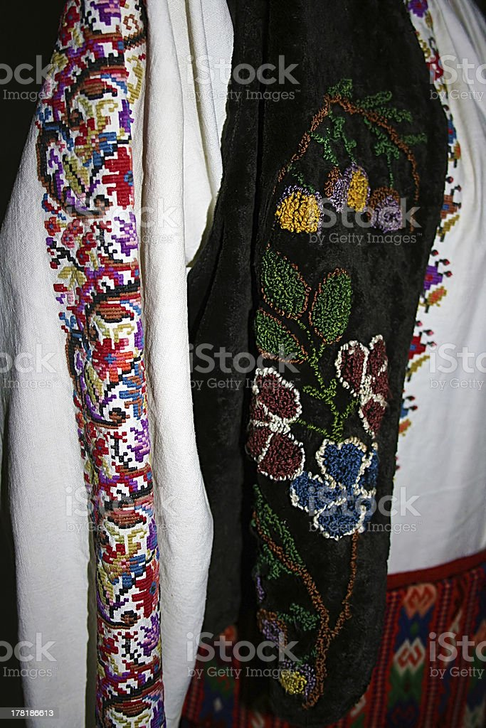 folk costume.Detail roumaine traditionnelle - Photo