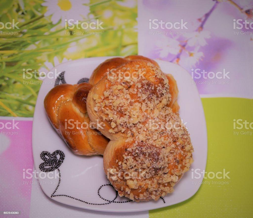 traditional romanian pie called sfintisori or mucenici stock photo