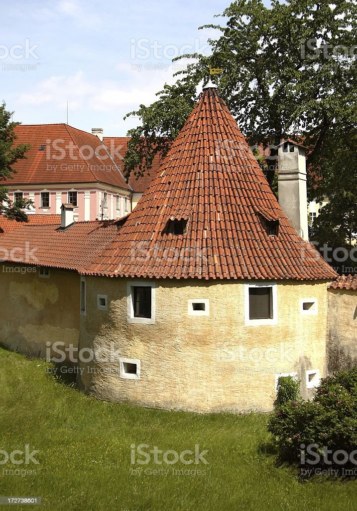 Traditional round tiled building stock photo