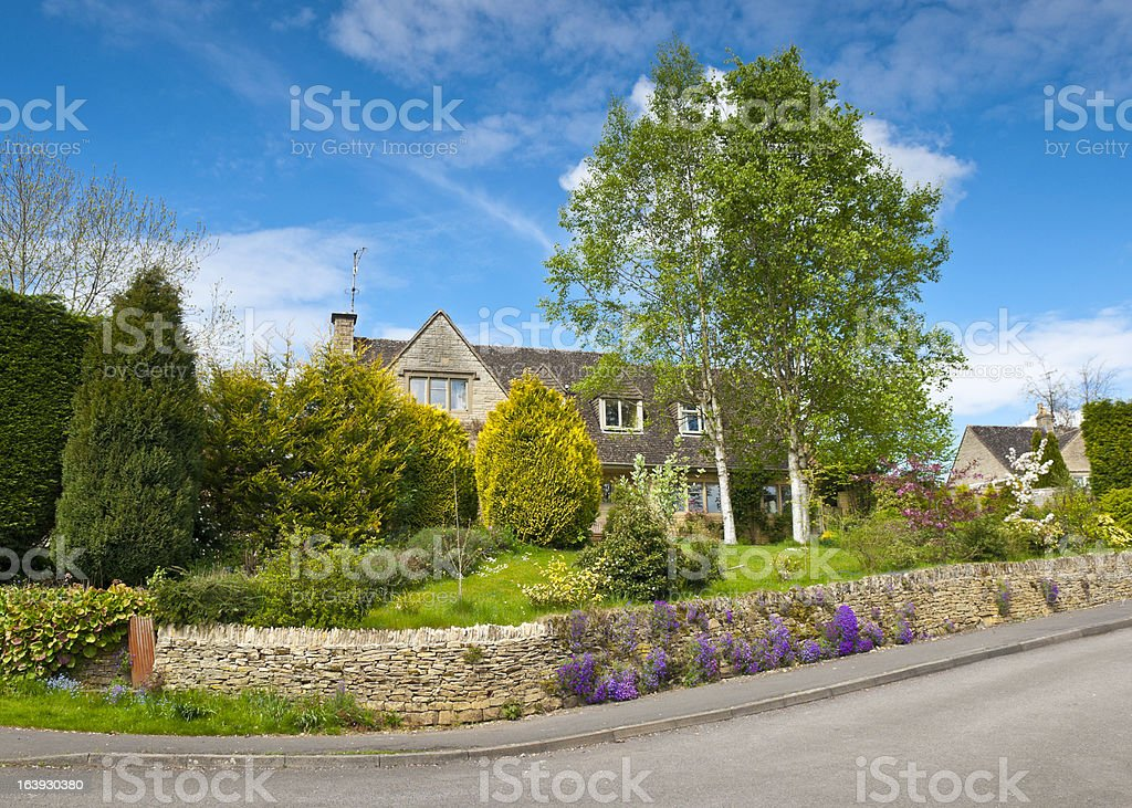 Traditional rural homes scene royalty-free stock photo