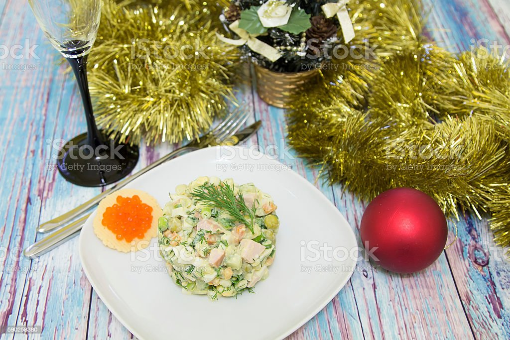 traditional russian christmas salad olivier stock photo more