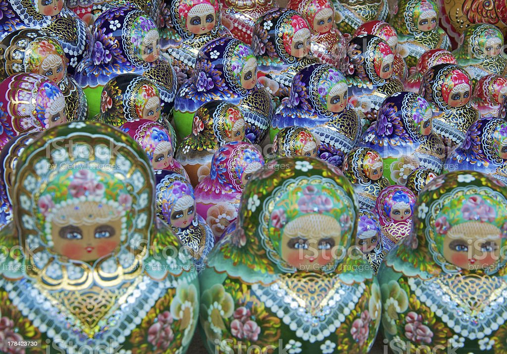 Traditional russian matrioska dolls royalty-free stock photo