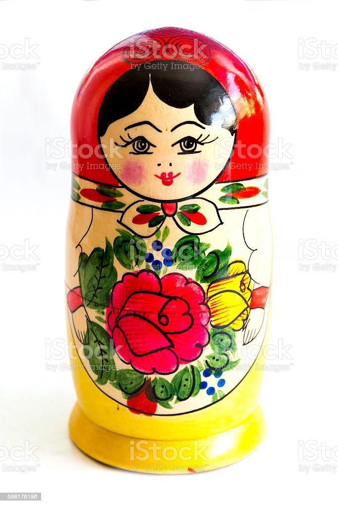 Traditional Russian matryoshka doll stock photo