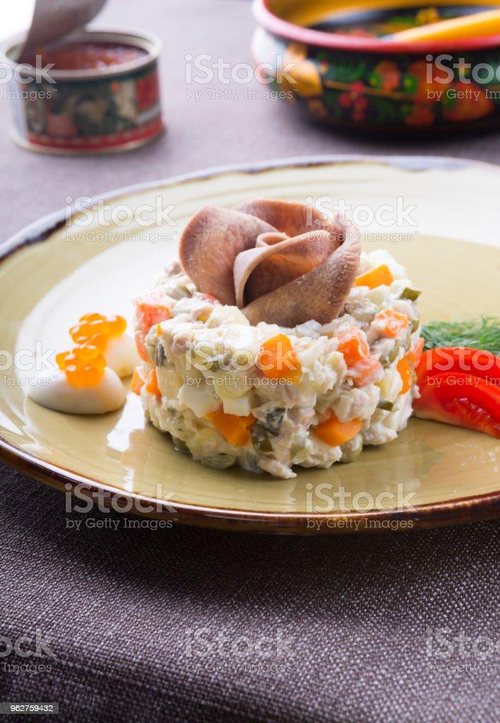 Traditional russian salad - Foto stock royalty-free di Aneto