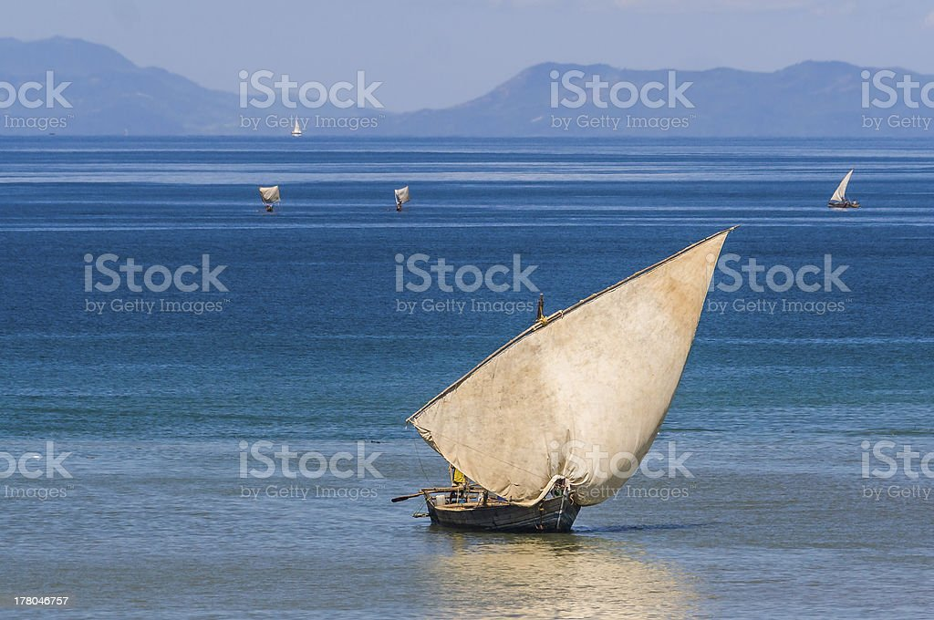 Traditional sailboat stock photo