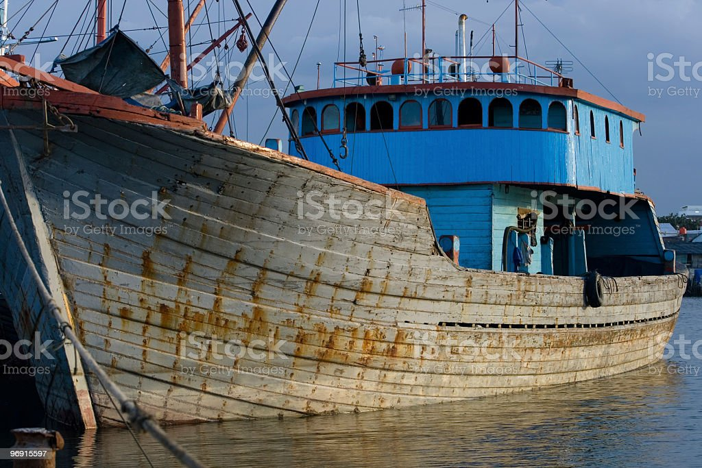 Traditional sailing ship in Asia royalty-free stock photo