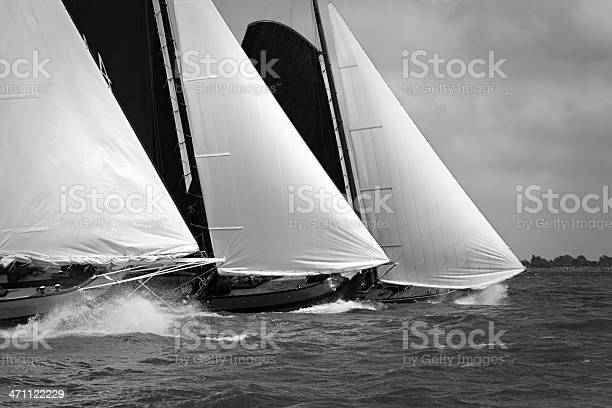 Photo of Traditional sailing vessel in the midst of a regatta
