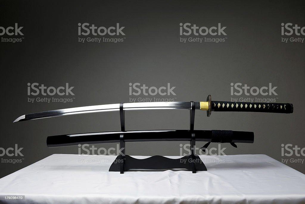 Traditional Samurai Sword stock photo