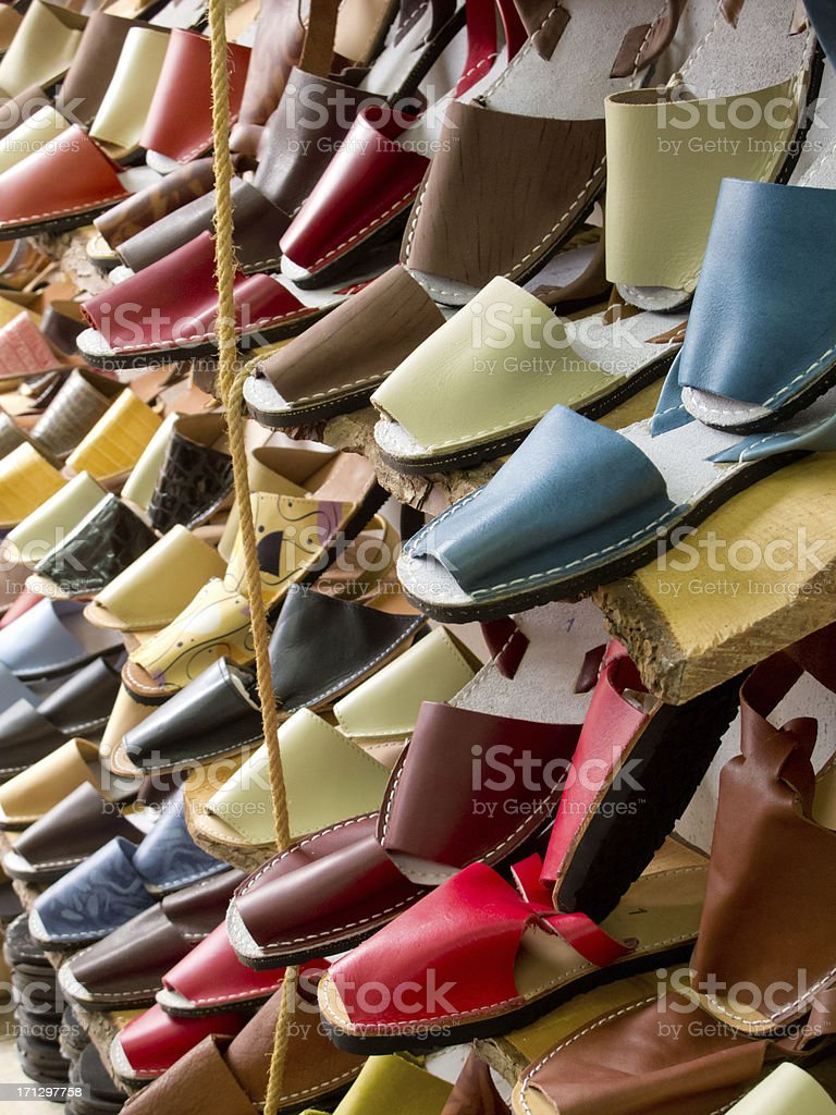 Traditional sandals. stock photo