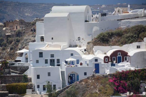 Casas tradicionales de Santorini - foto de stock