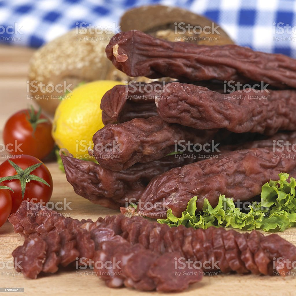 Traditional sausage royalty-free stock photo