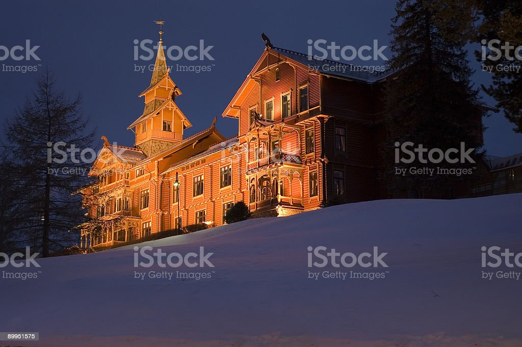 Traditional Scandinavian Lodge - Nordic Arcitecture royalty-free stock photo