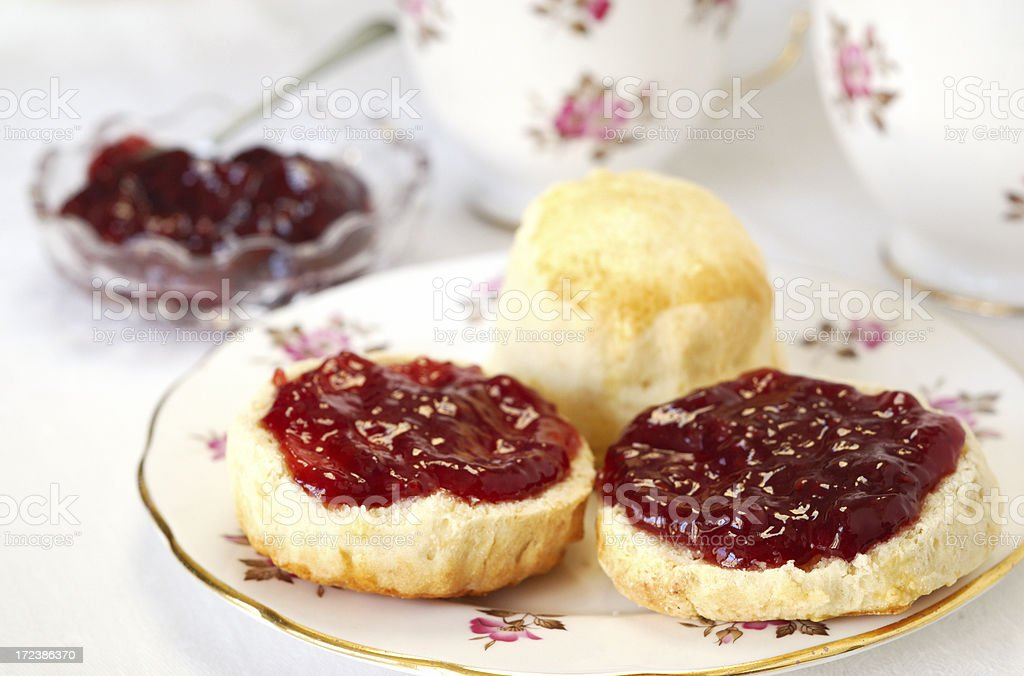 Traditional Scones at Tea Time royalty-free stock photo