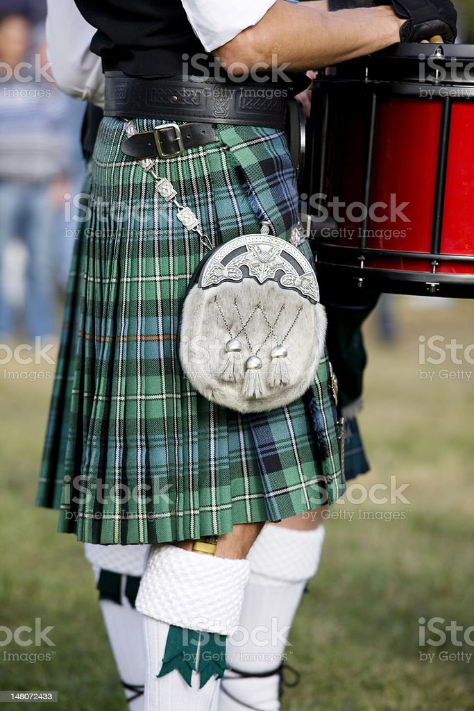 traditional scottish tartan stock photo