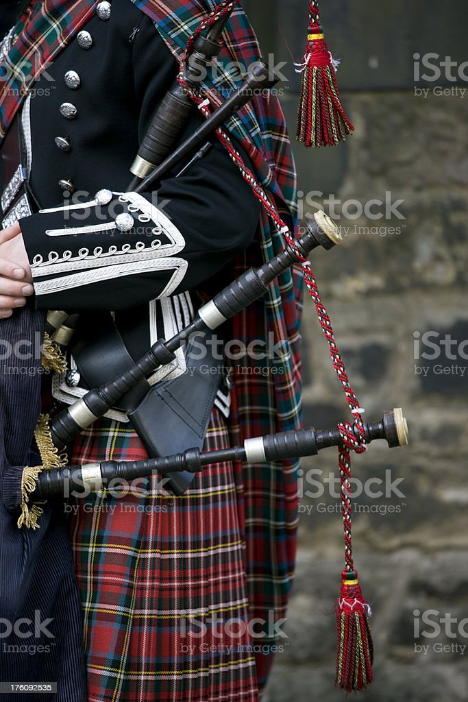 traditional scottish tartan royalty-free stock photo