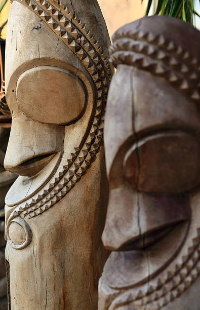 Traditional sculptures-Vanuatu Traditional sculptures-Vanuatu vanuatu stock pictures, royalty-free photos & images
