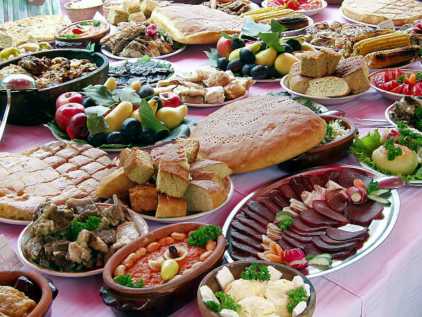 traditional Serbian food OLYMPUS DIGITAL CAMERA serbia stock pictures, royalty-free photos & images