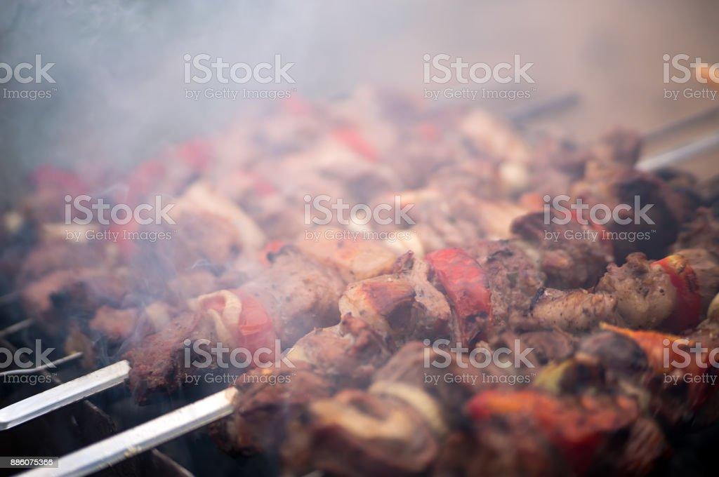 Traditional shish kebab stock photo