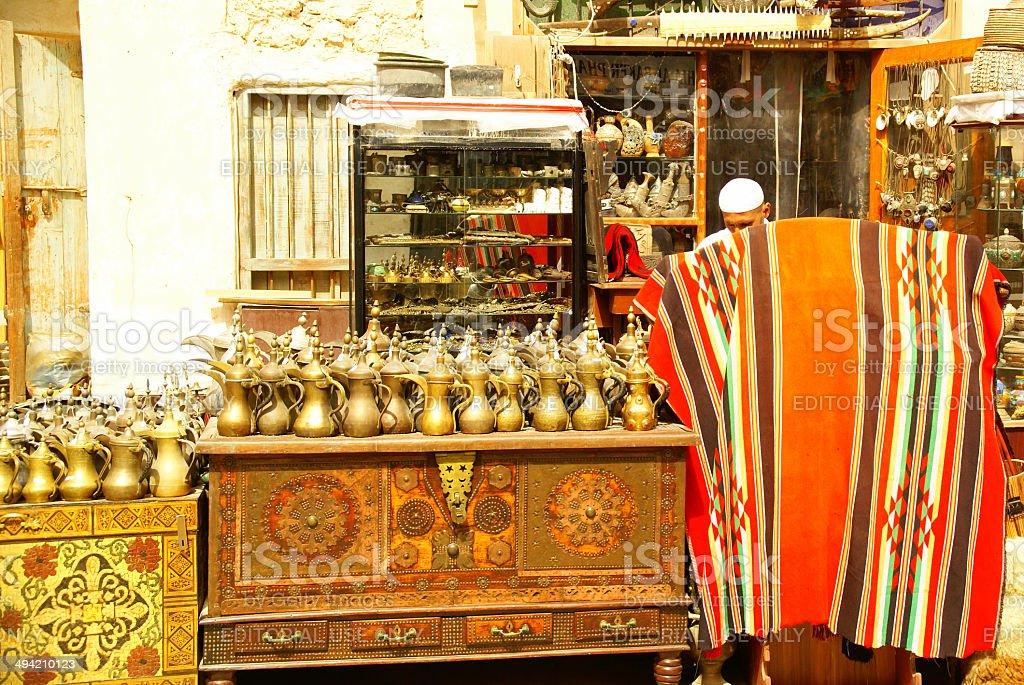 Traditional Shop Souq Waqif,Doha,Qatar stock photo