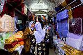 Sanliurfa, Turkey - December 15, 2008: People shopping in the Bazaar.Traditional Shopping Bazaar, Sanliurfa, Turkey.