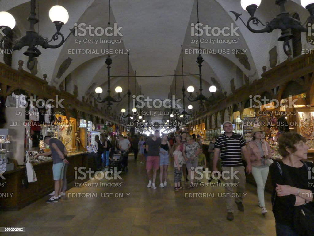 traditional shops and people tourism buying and selling croud of