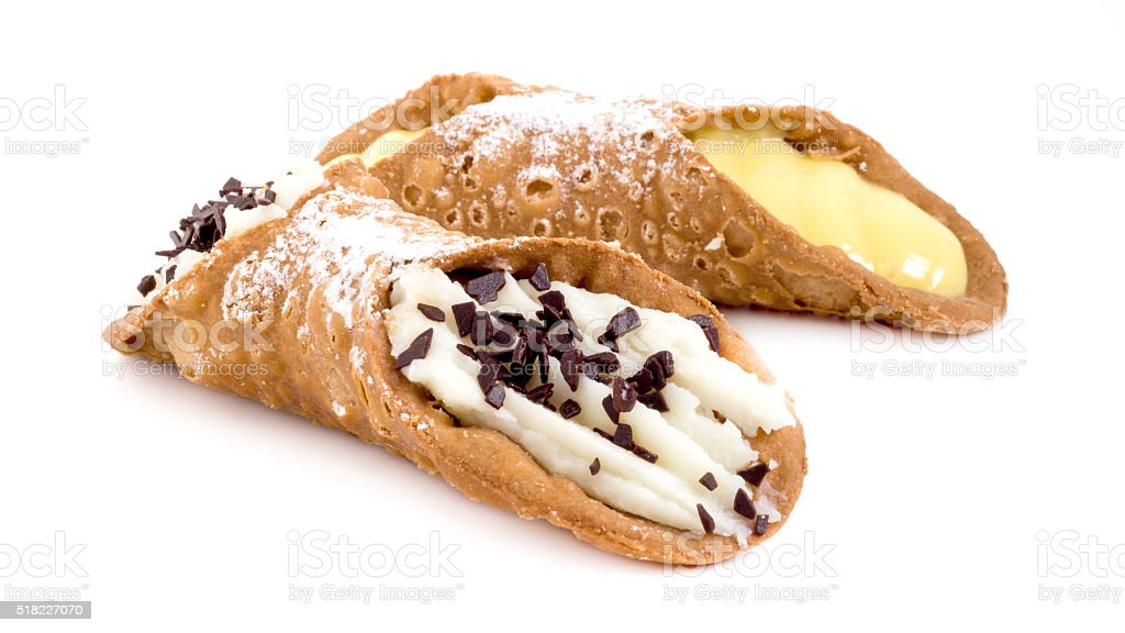 Traditional sicilian cannoli stock photo