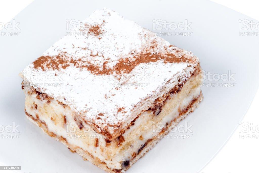 traditional sicilian diplomatic on dish - foto stock