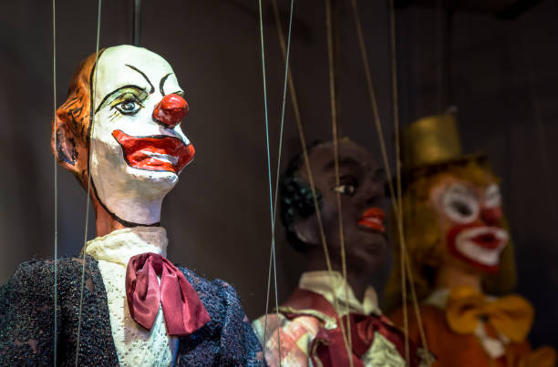 Traditional Sicilian puppets stock photo