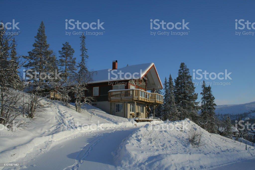 Traditional Ski Chalet royalty-free stock photo