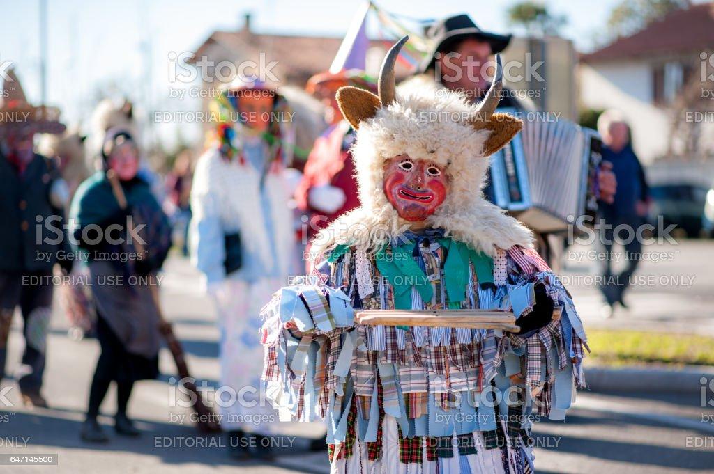 Traditional Slovenian Carnival at Sempeter pri Gorici stock photo