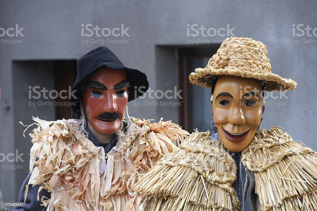 traditional Slovenian carnival stock photo