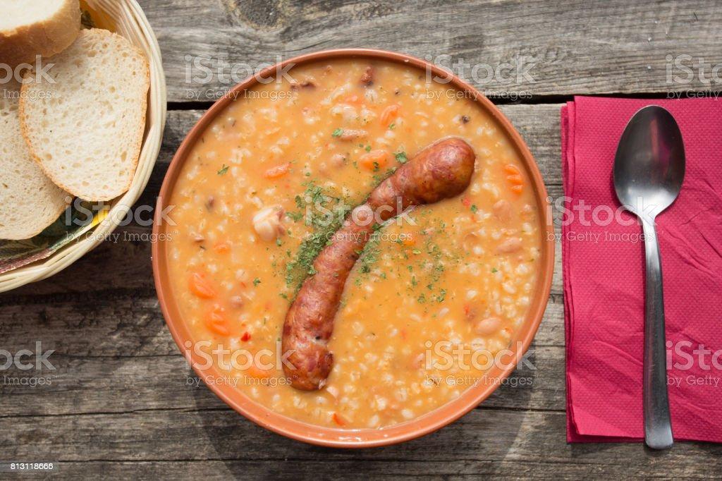 Traditional slovenian food stock photo