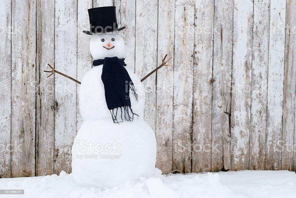 Tradicional boneco de neve. - foto de acervo