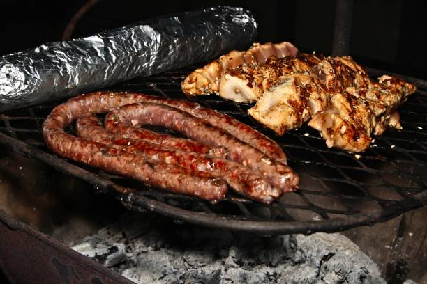 A traditional South African braai (BBQ). stock photo