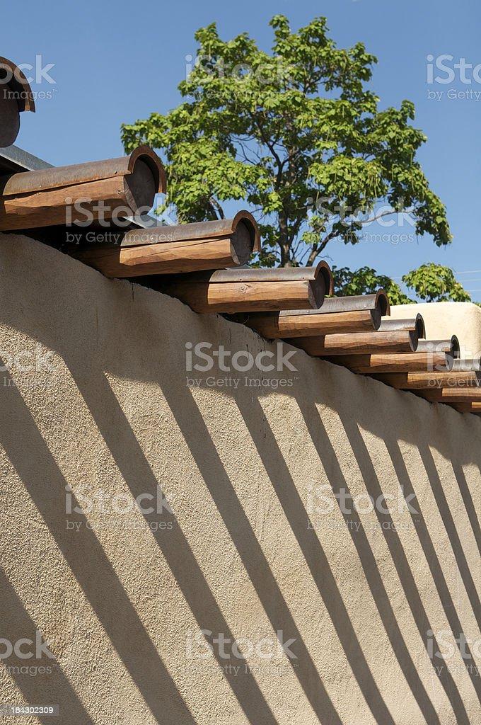 Traditional Southwest Adobe Architecture w Shadows stock photo