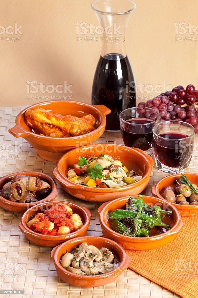 Traditional spanish tapas. stock photo
