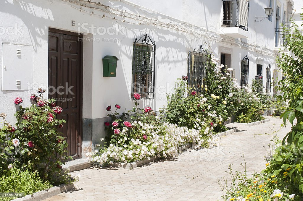 Traditional Spanish village stock photo