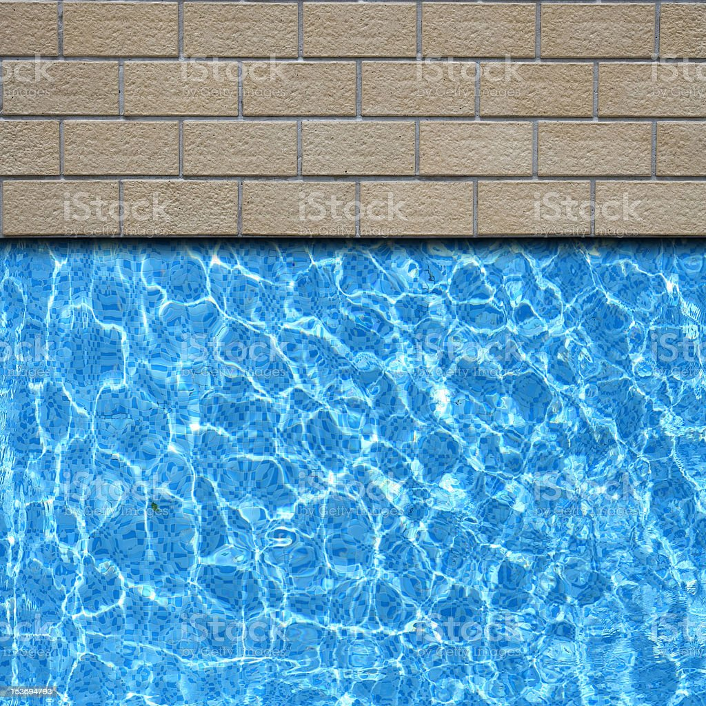 traditional stone pavement with pool royalty-free stock photo