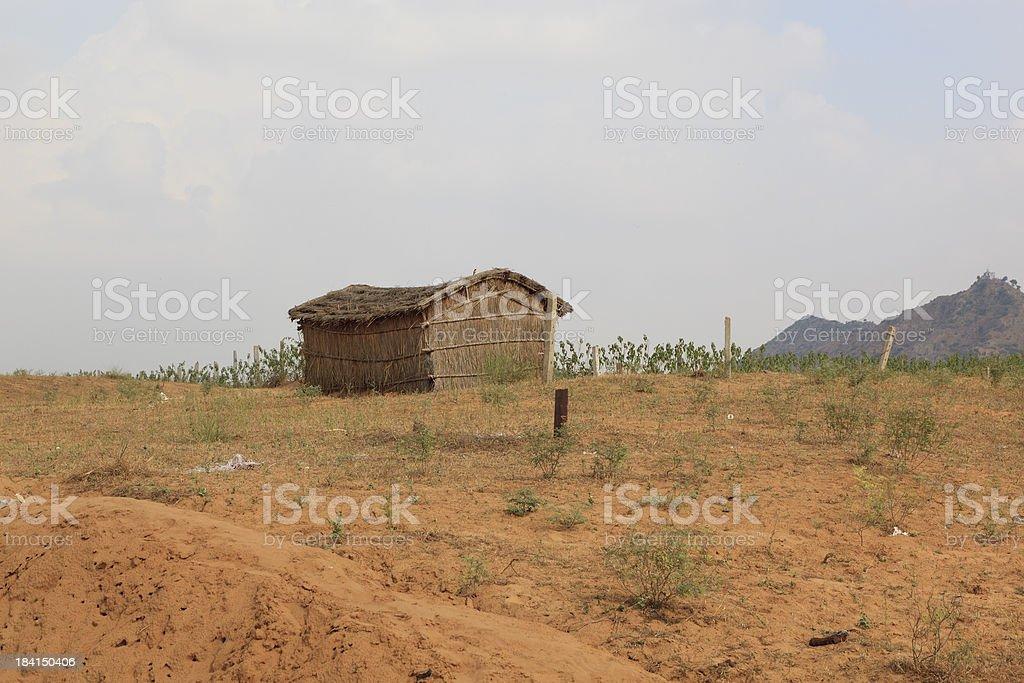 Traditional straw hut Rajasthan India stock photo