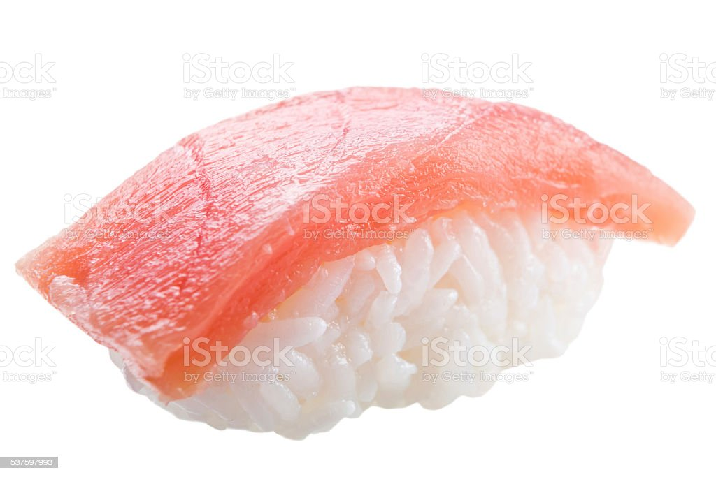 traditional sushi sashimi on white background stock photo