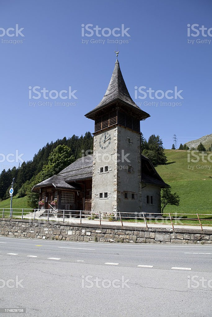 Traditional Swiss church stock photo