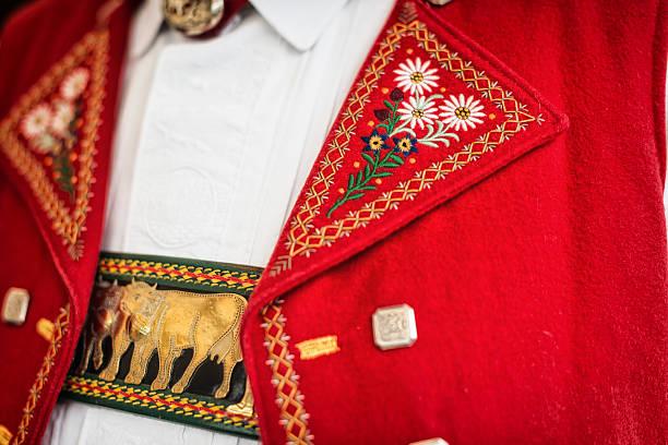 Traditionelle Schweizer Kostüm in Appenzell – Foto