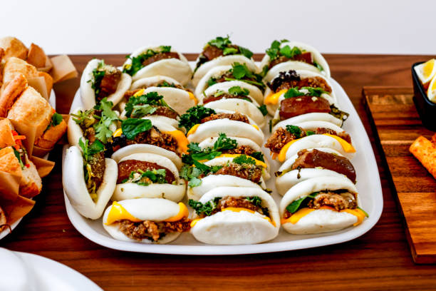 Traditional Taiwan Stuffed Buns stock photo