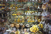 Traditional tea and coffee sets or teapots at grand bazaar