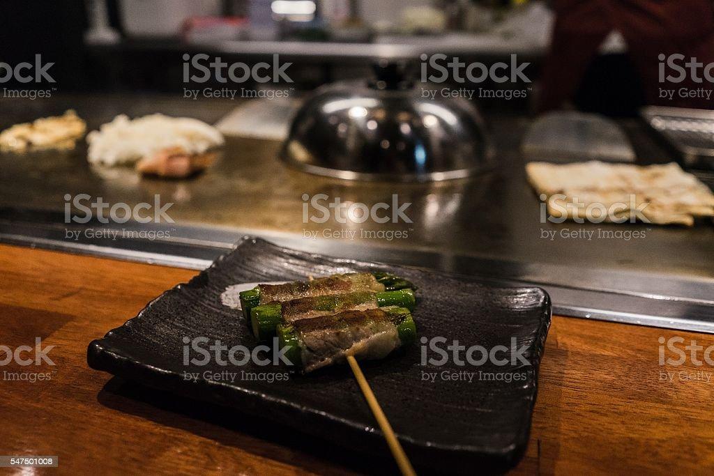 Traditional tepanyaki in Japan stock photo