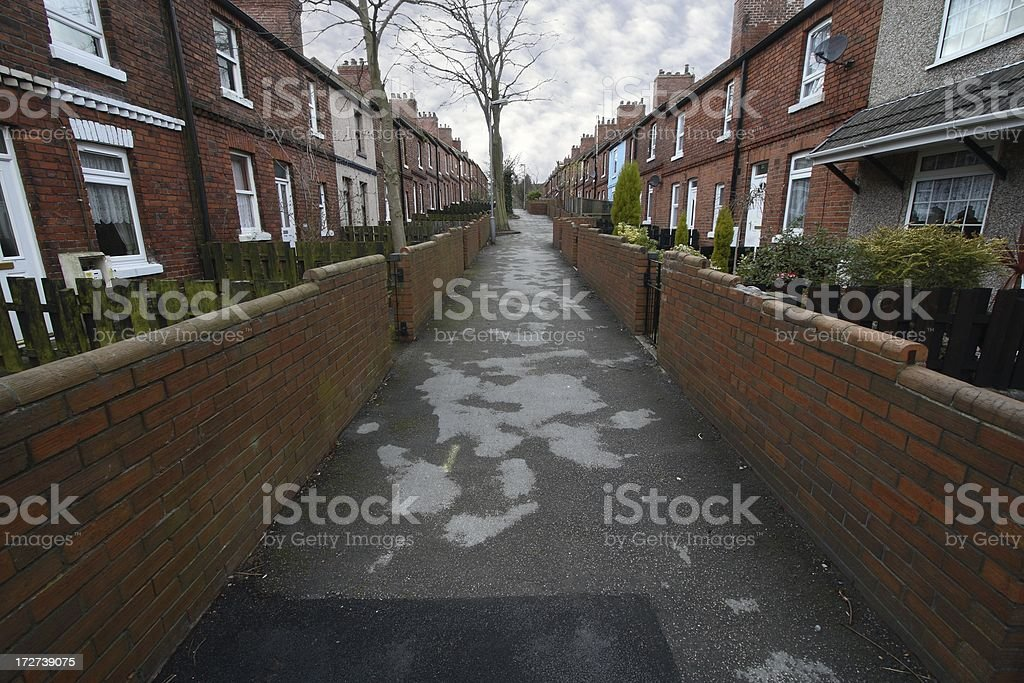 Traditional terraced housing stock photo