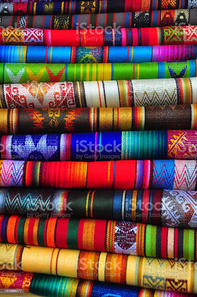 Traditional textiles royalty-free stock photo